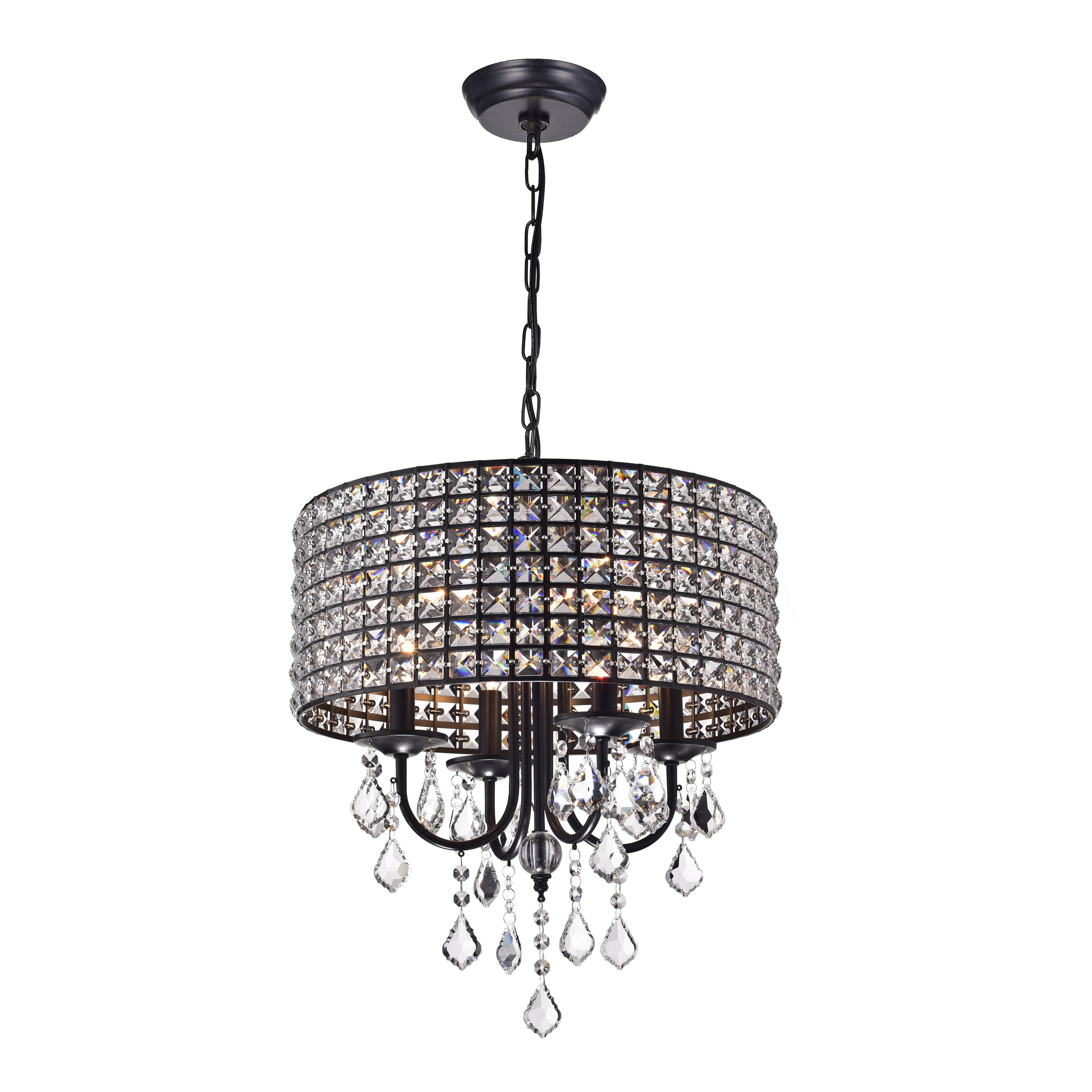 Albano 4 light crystal chandelier reviews joss main