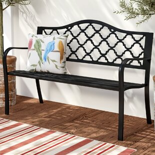 Exceptionnel Stripling Outdoor Lattice Patio Cast Iron Garden Bench