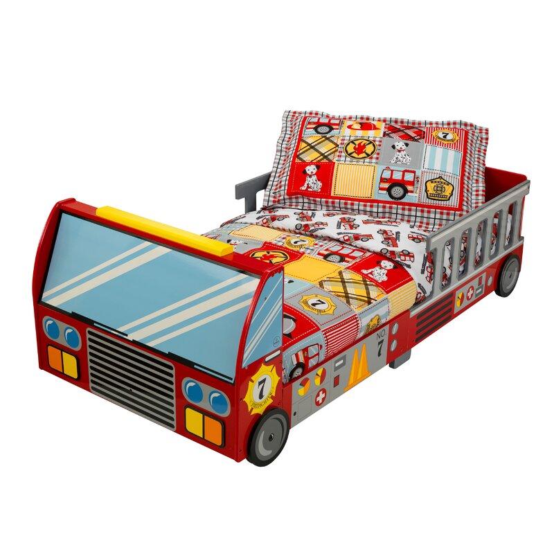 KidKraft Fire Truck Toddler Bed & Reviews | Wayfair.co.uk