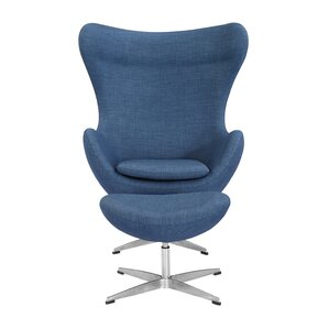 Deniela Swivel Lounge Chair and Ottoman by O..