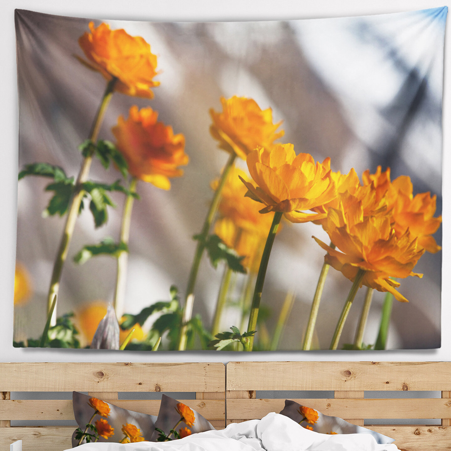 East Urban Home Attractive Small Yellow Flowers Tapestry And Wall