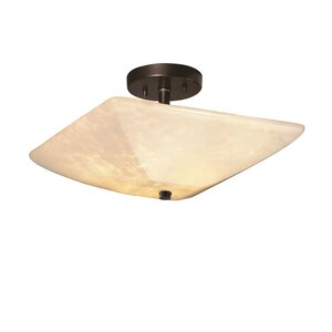 Rocky Square Semi Flush Mount