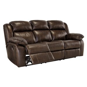 Branton Leather Reclining Sofa by Signature Design by Ashley