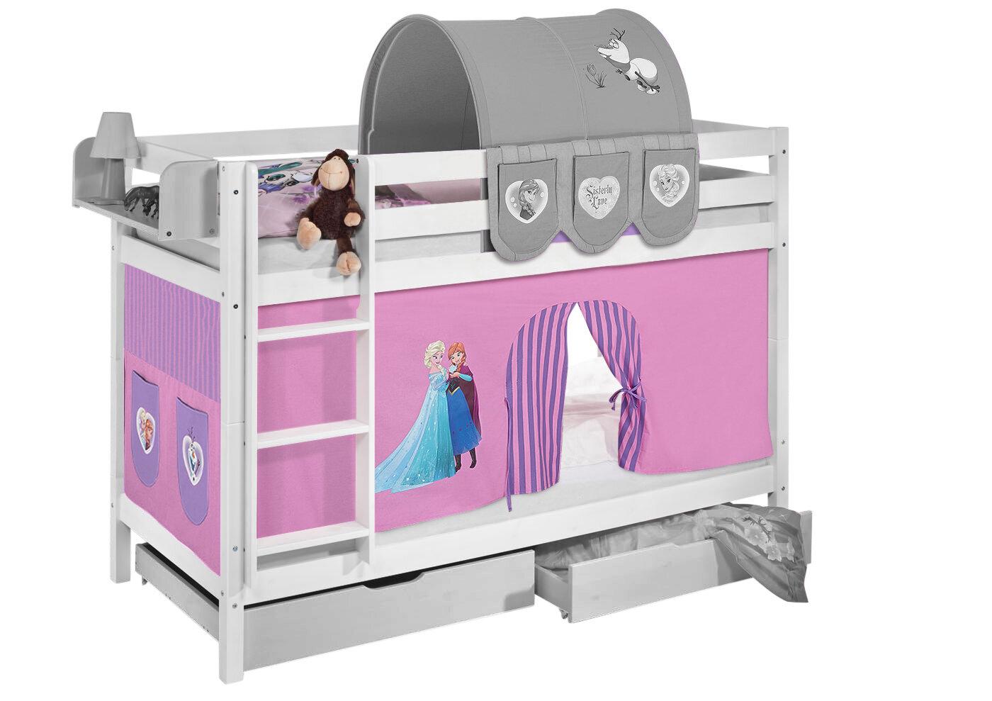 Etagenbett Jelle : Frozen etagenbett disney s mit hochbettvorhang cm x