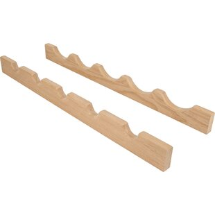 Maple 5 Bottle Wall Mounted Wine Rack