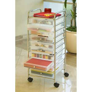 Rolling Storage Drawer Carts Youll Love Wayfair - Craft organizer cart on wheels