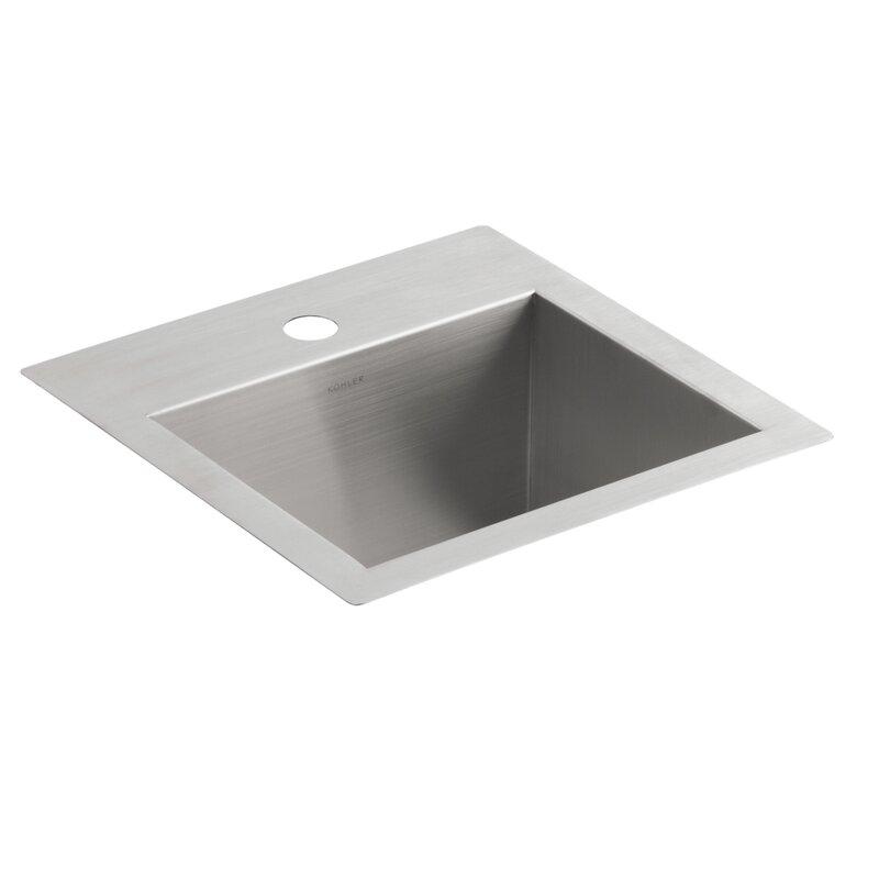 K-3840-1-NA Kohler Vault Top-Mount/Under-Mount Bar Sink ...