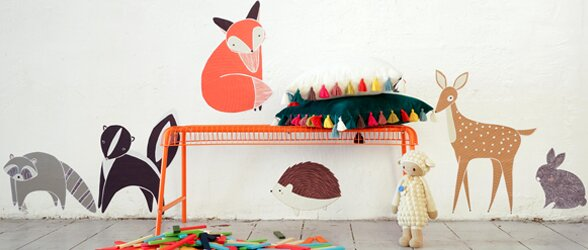 Pop \u0026 Lolli Gingiber 6 Piece Woodland Animal Wall Decal Set | Wayfair