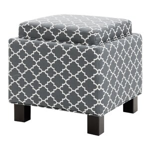 Hernandes Square Storage Cube Ottoman by Three Posts