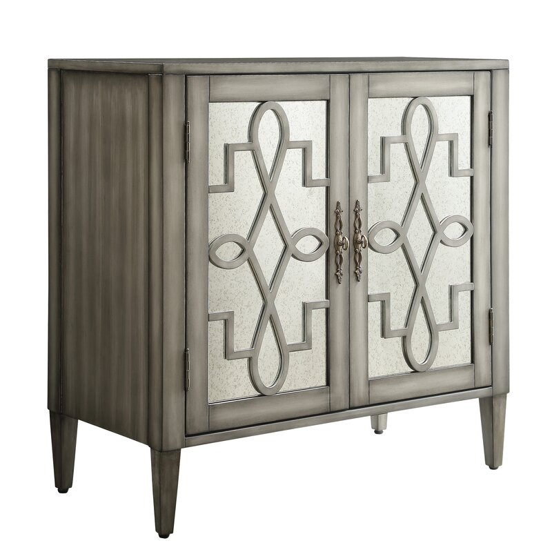 Willa Arlo Interiors Sanna 2 Door Mirrored Cabinet Reviews Wayfair