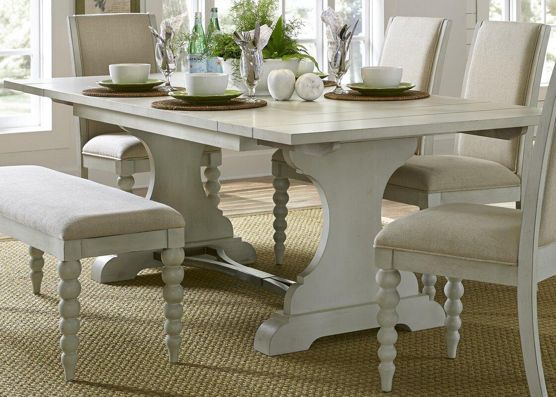 Lark Manor Saguenay Trestle Dining Table Amp Reviews Wayfair