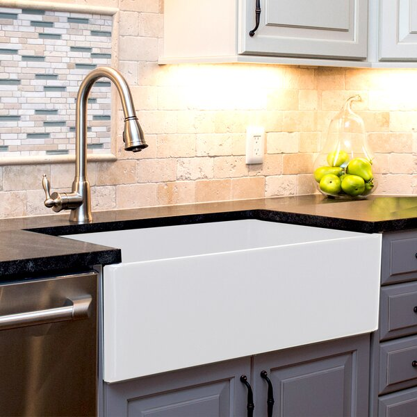 Nantucket Sinks Cape 36 X 19 Farmhouse A Kitchen Sink Reviews Wayfair