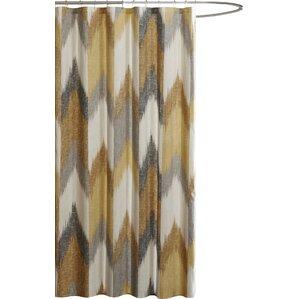 teal and gold shower curtain. Alpine Cotton Printed Shower Curtain Yellow  Gold Curtains You ll Love Wayfair