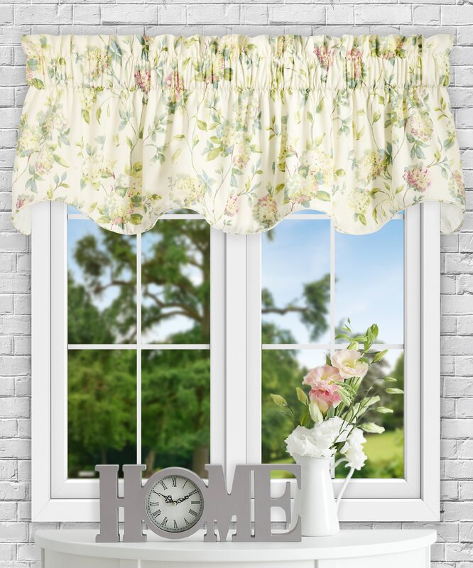 "Frilled Kitchen Curtains Lined: Ellis Curtain Kyra Hydrangea Lined 70"" Curtain Valance"