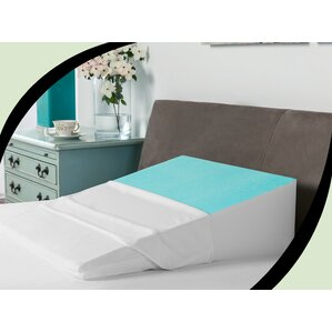 cooling gel coated memory foam bed wedge pillow