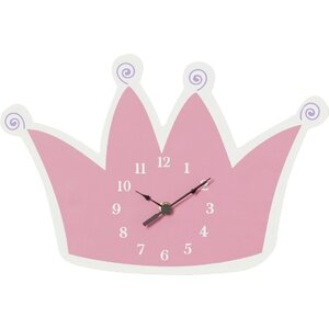 Storybook Princess Tiara Wall Clock