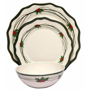 Christmas Berry 36 Piece Dinnerware Set Service for 12 (Set of 12)  sc 1 st  Wayfair & 12 Person Dinnerware Sets You\u0027ll Love