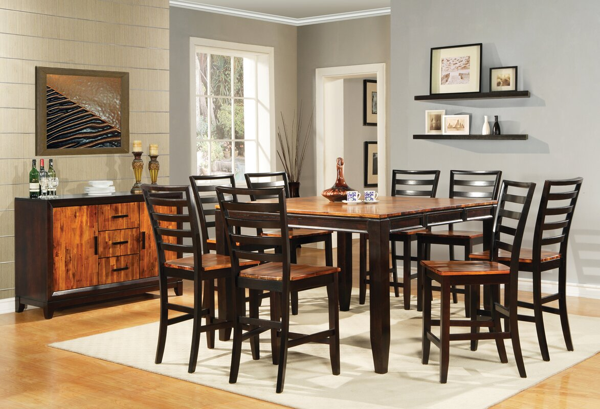 Frazer 9 Piece Counter Height Dining Set