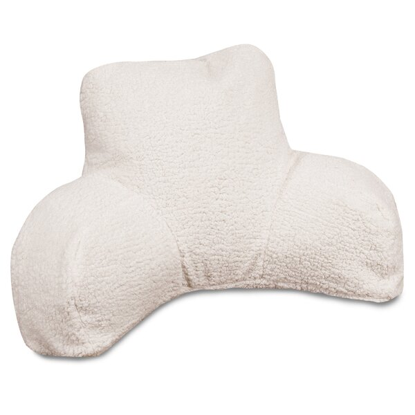 Majestic Home Goods Solid Sherpa Bed Rest Pillow Reviews Wayfair