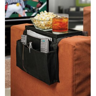 6 Pocket Sofa Couch Arm Rest Organizer With Table Top