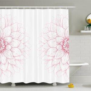 Bushy Sunflower Daisy Petals Image Shower Curtain Set