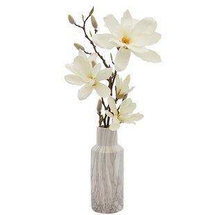 Silk magnolia arrangements wayfair magnolia floral arrangements in vase mightylinksfo