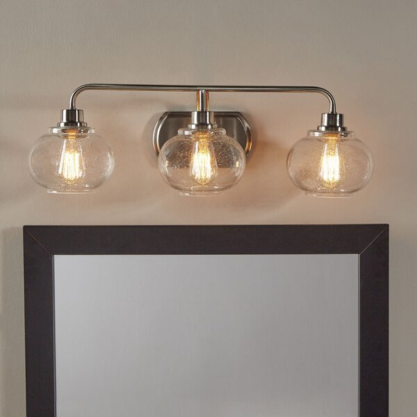 Beachcrest Home Gotha 3 Light Vanity Light Reviews: Braxton 3-Light Vanity Light & Reviews