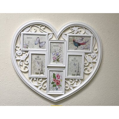 Adecotrading 13 Opening Decorative Wall Hanging Heart Shaped Picture