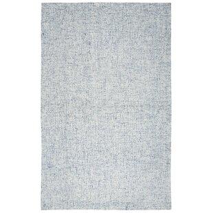 Marsh Hand Tufted Wool Blue Area Rug