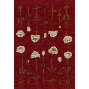 Poppy flower rug wayfair innovation garnet poppy area rug mightylinksfo