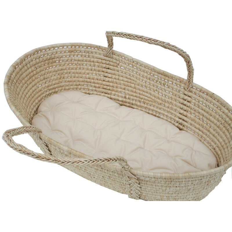 "Wendy Anne 26""L Cotton Moses Basket 1.5"" Bassinet Mattress ..."
