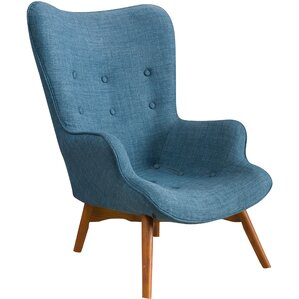 canyon vista midcentury wingback chair