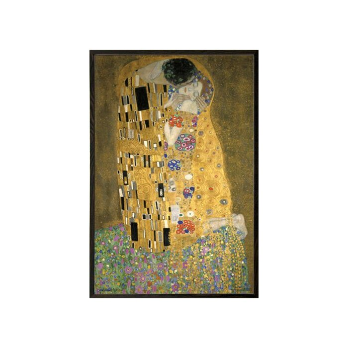 Frame USA \'KLIMT - Kiss\' Framed Graphic Art Print, Poster & Reviews ...