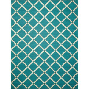 Merganser Hand-Tufted Aqua/Beige Indoor/Outdoor Area Rug