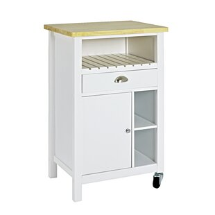 Kitchen trolley with solid wood top by haku low price kitchen trolley watchthetrailerfo