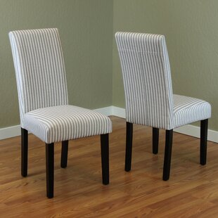 2514353fd Grey Linen Parsons Chair