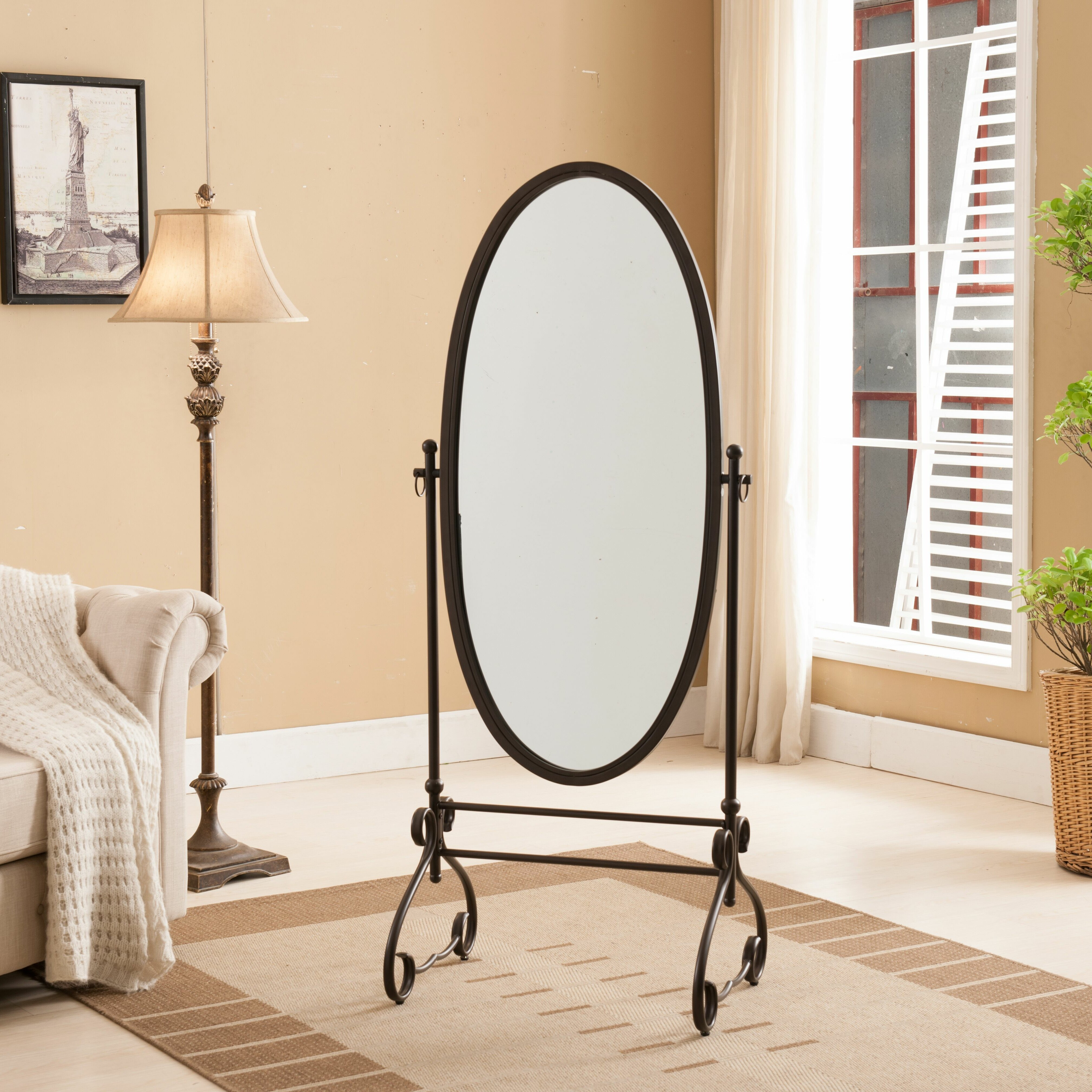 Darby Home Co Oval Standing Mirror & Reviews | Wayfair