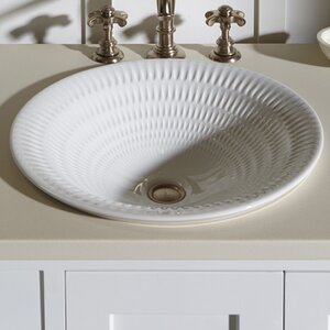 Derring Carillon Wading Ceramic Circular Drop-In Bathroom Sink