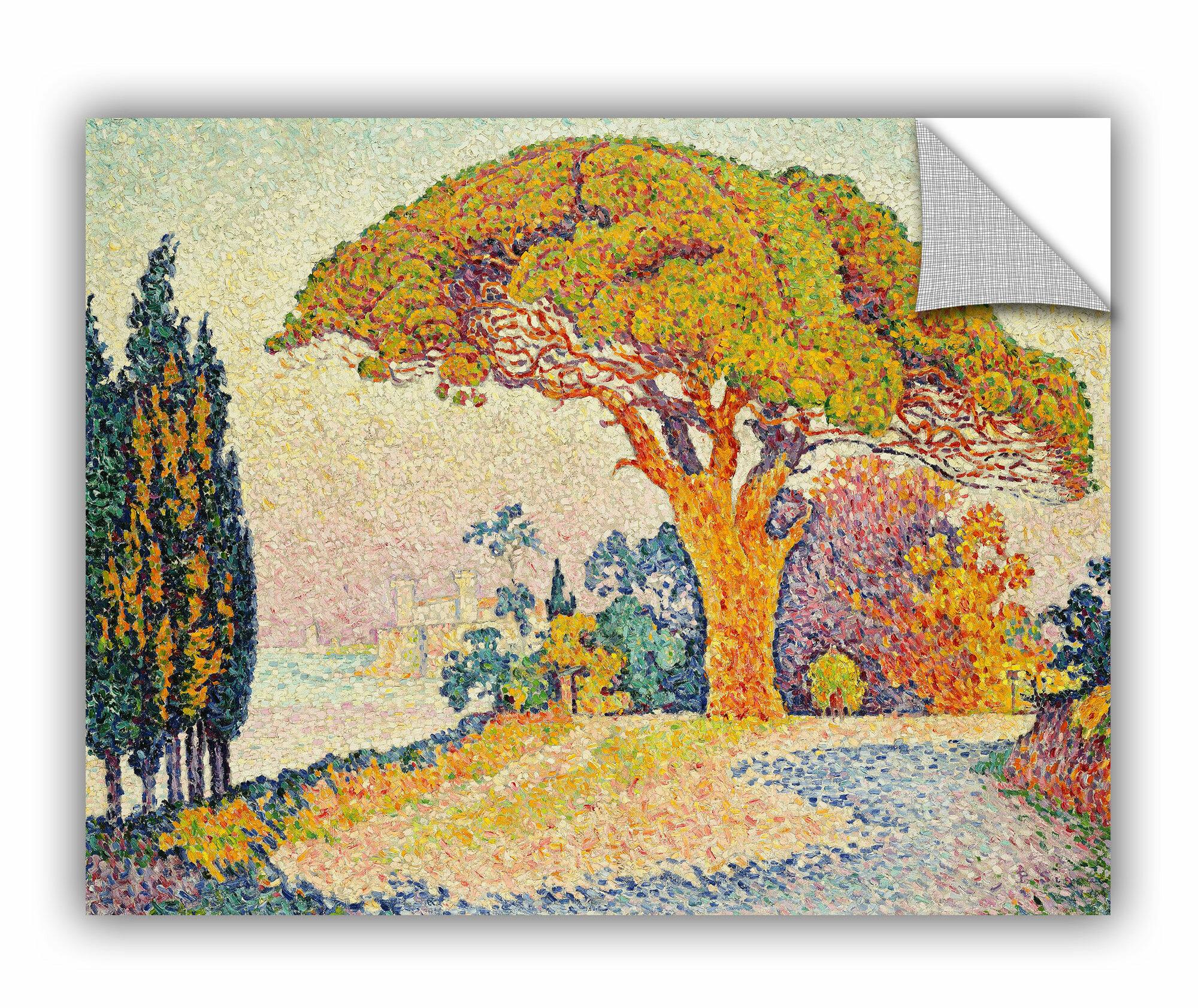 ArtWall Paul Signac Pine Trees at Bertaud, Saint-Tropez, 1900 Wall ...