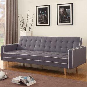 Zipcode Design Noe Mid-Century Modern 2 Tone Convertible Sofa