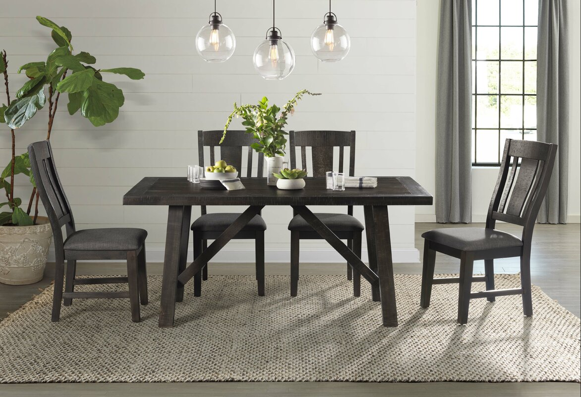 Union Rustic Acklin Solid Wood Dining Chair & Reviews   Wayfair