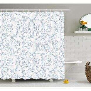 Farthing Bohemian Vintage Orchids Shower Curtain Hooks