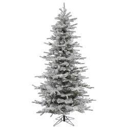 Vickerman 7.5' Flocked Slim Sierra Artificial Christmas Tree | Wayfair