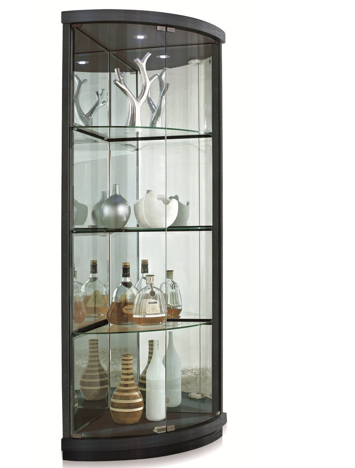 new spec lighted corner curio cabinet reviews wayfair rh wayfair com Pulaski Corner Curio Cabinets Corner Curio Cabinet with Lock