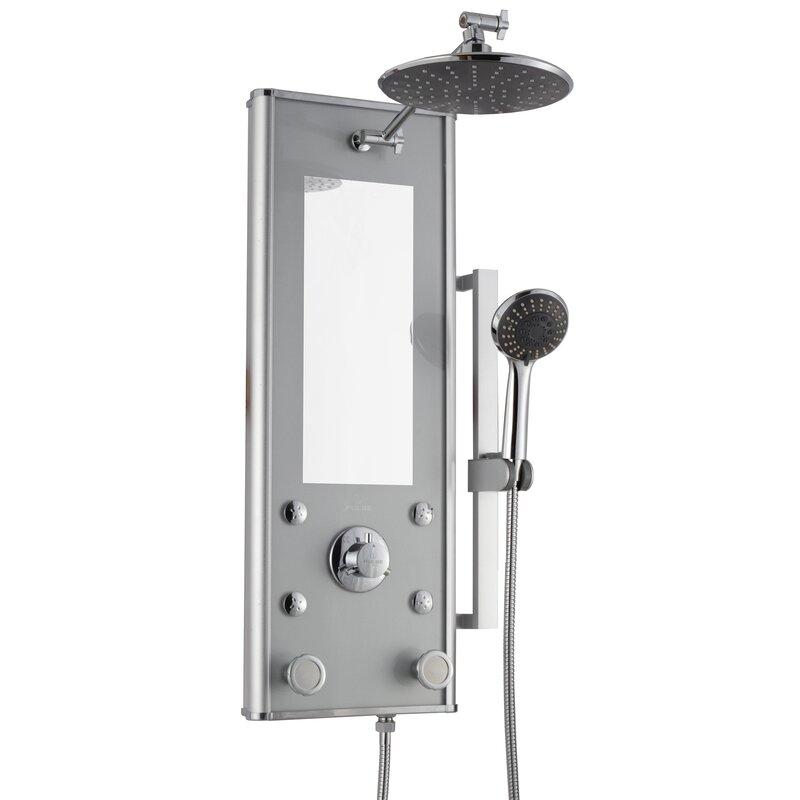 Pulse Shower Spas Shangri-La Shower Panel Diverter/Thermostatic ...