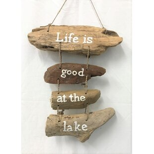 Driftwood Lake Sign Wall Decor