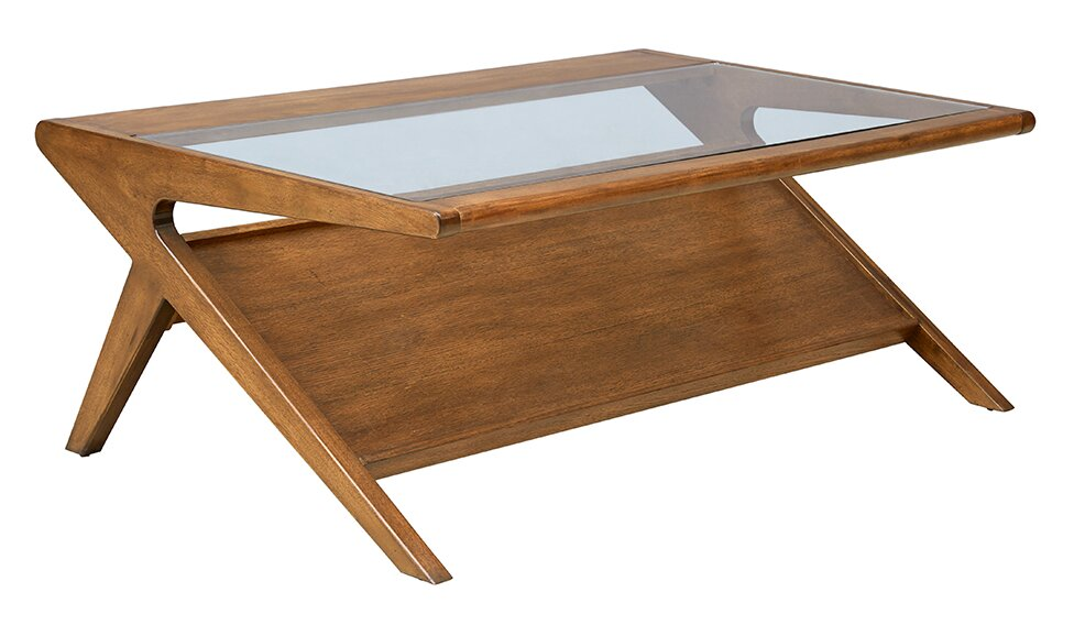 Alvarado Coffee Table With Magazine Rack
