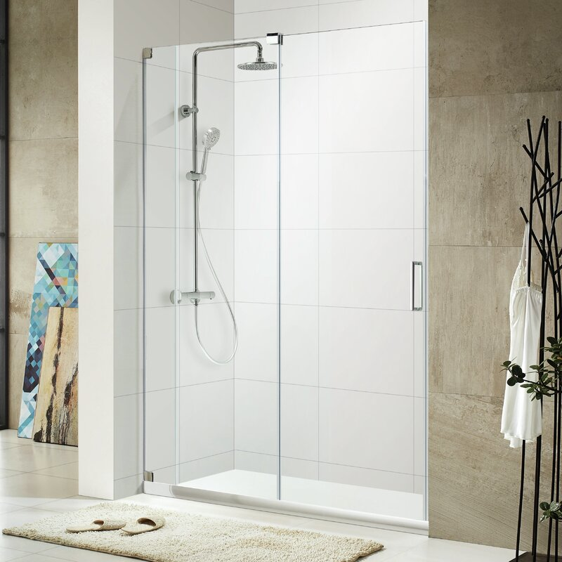 frameless single shower doors. Oasis Lux 48\ Frameless Single Shower Doors
