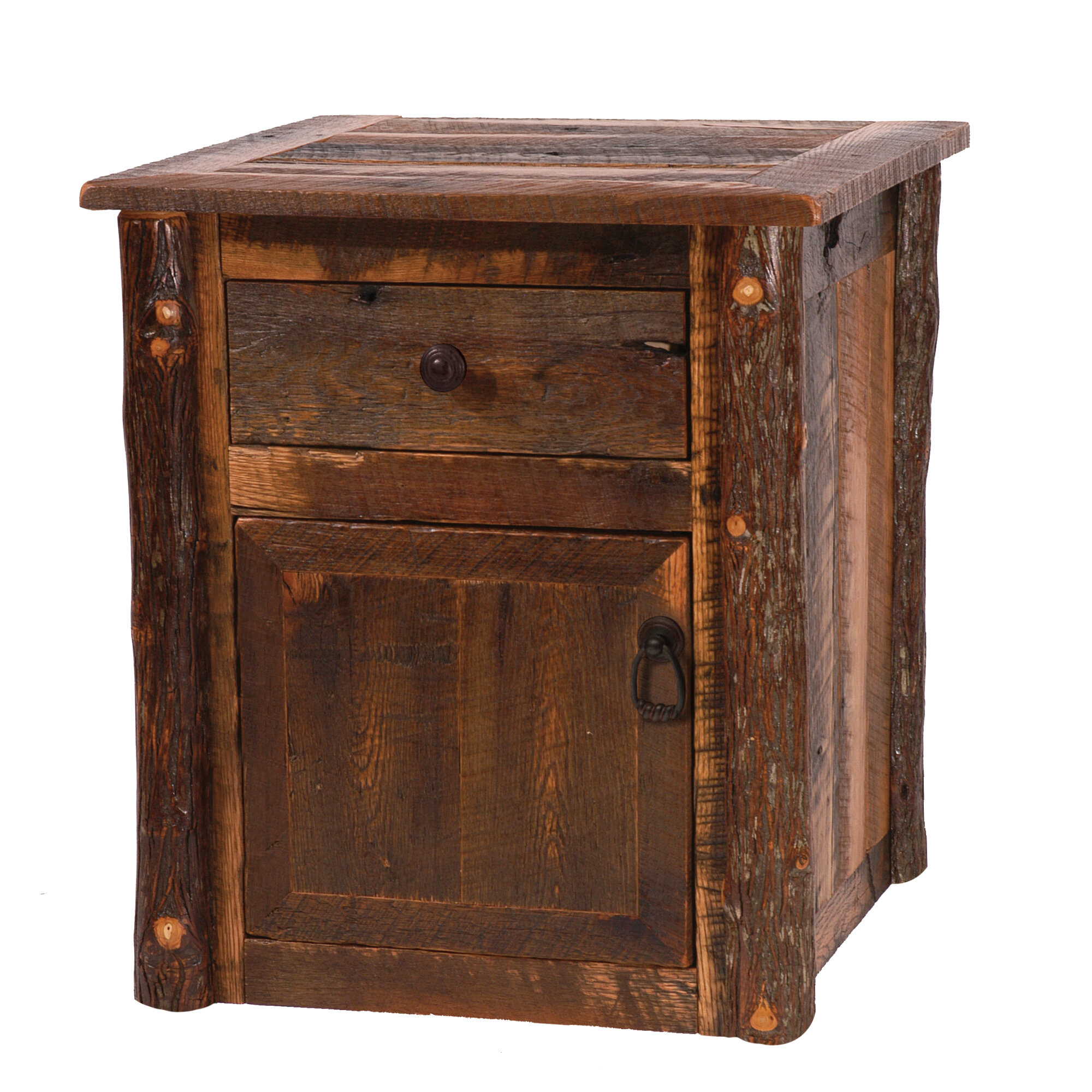 Terrific Barnwood End Table With Storage Interior Design Ideas Gentotryabchikinfo