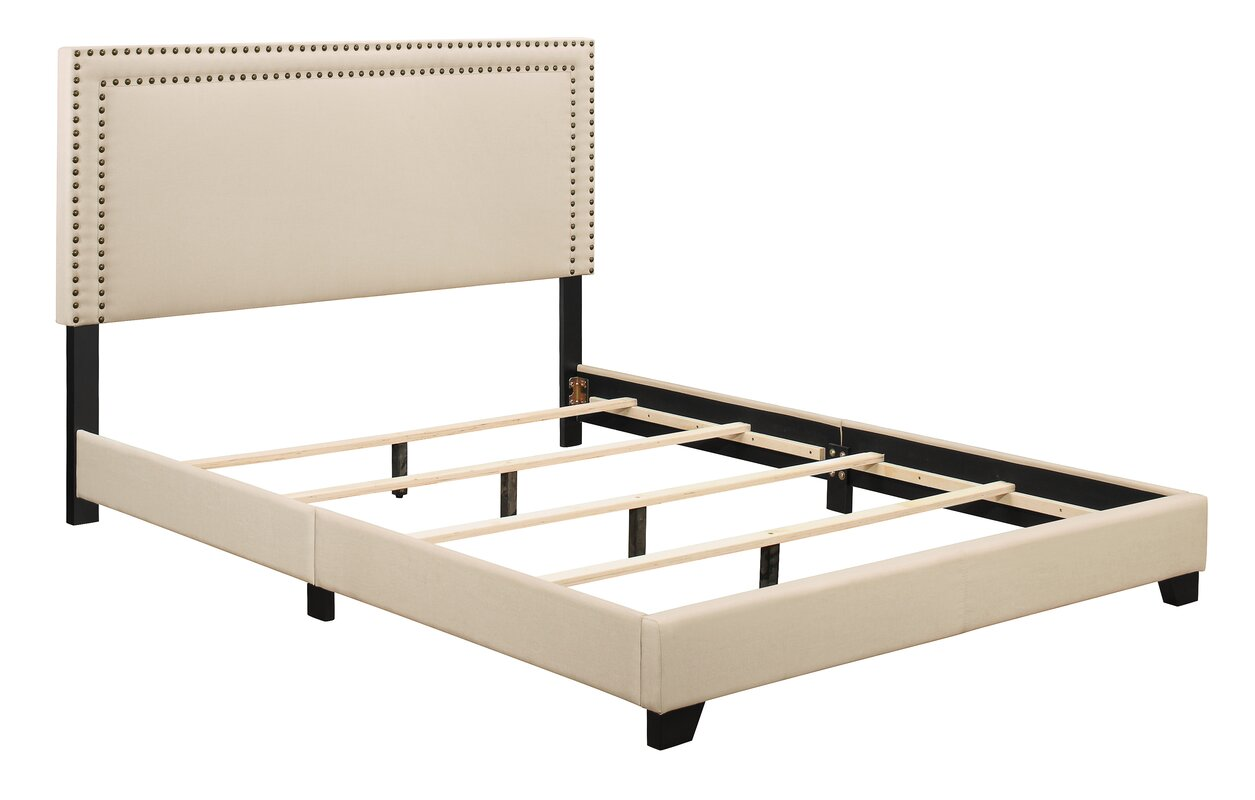Charlie Upholstered Panel Headboard and Bed Frame & Reviews   Joss ...